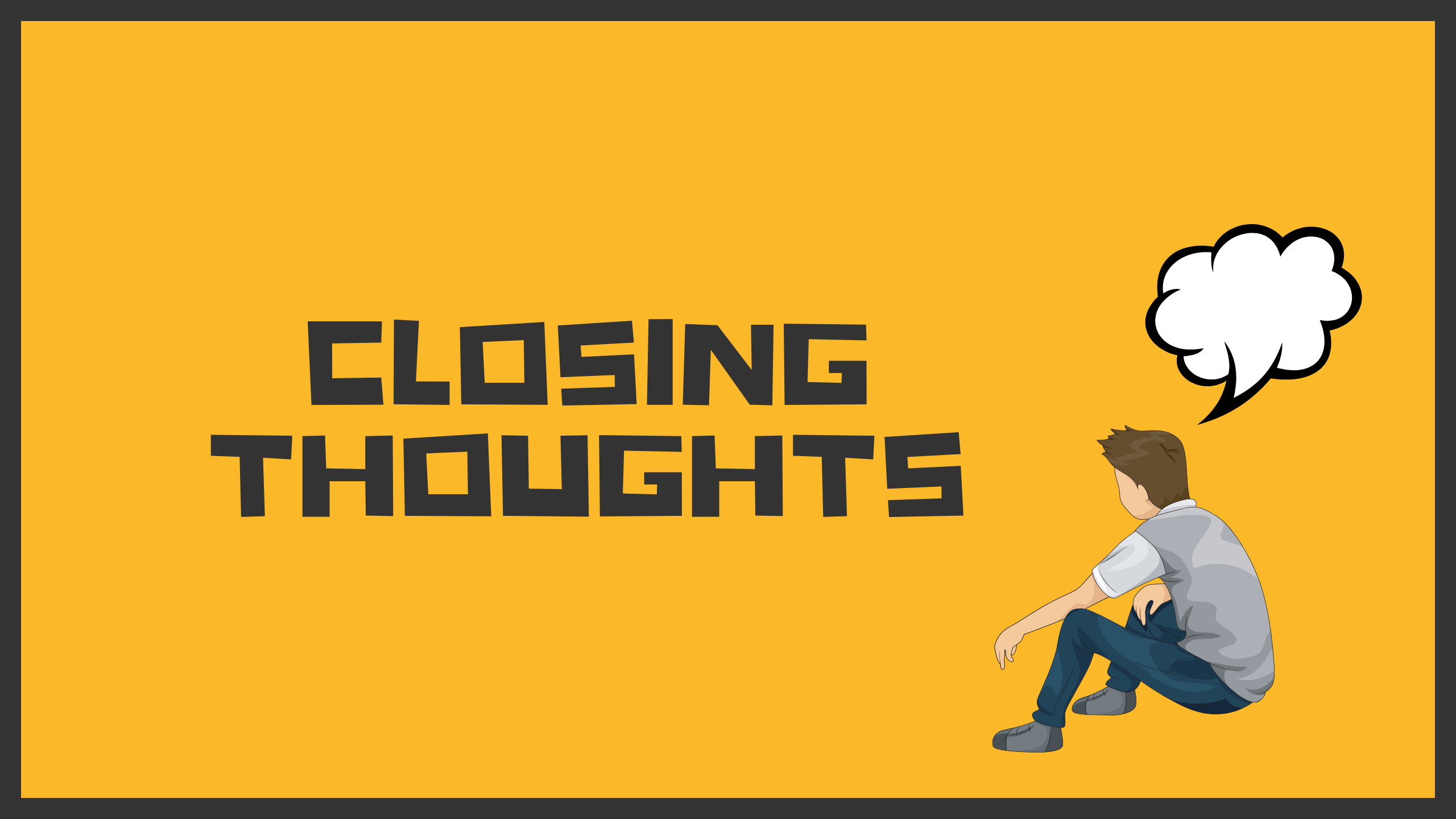 Closing thoughts cover image